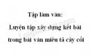 Tập làm văn: Luyện tập xây dựng kết bài trong bài văn miêu tả cây cối trang 82 SGK Tiếng Việt 4 tập 2