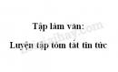 Tập làm văn: Luyện tập tóm tắt tin tức trang 109 SGK Tiếng Việt 4 tập 2