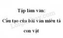 Tập làm văn: Cấu tạo của bài văn miêu tả con vật trang 112 SGK Tiếng Việt 4 tập 2