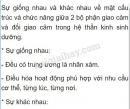 Câu hỏi 1 trang 154 SGK Sinh học 8