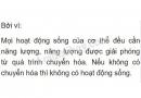 Bài 2 trang 104 SGK Sinh học 8
