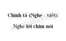 Chính tả (Nghe - viết): Nghe lời chim nói trang 124 SGK Tiếng Việt 4 tập 2