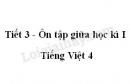 Tiết 3 - Ôn tập giữa học kì I trang 97 SGK Tiếng Việt 4 tập 1