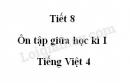 Tiết 8 - Ôn tập giữa học kì I trang 102 SGK Tiếng Việt 4 tập 1