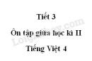 Tiết 3 - Ôn tập giữa học kì II trang 96 SGK Tiếng Việt 4 tập 2
