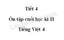 Tiết 4 - Ôn tập cuối học kì II trang 164 SGK Tiếng Việt 4 tập 2