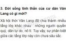 Đời sống tinh thần của cư dân Văn Lang có gì mới?