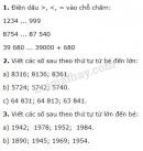 Tiết 16 Bài 1, 2, 3  trang 22 sgk Toán 4