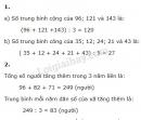 Bài 1, 2 trang 28 SGK Toán 4