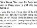 Theo em, vì sao Triệu Quang Phục chọn Dạ Trạch làm căn cứ kháng chiến và phát triển lực lượng