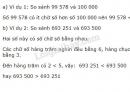 Lý thuyết so sánh các số có nhiều chữ số
