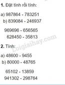 Bài 1, 2 trang 40 (Phép trừ) SGK Toán 4
