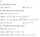 Bài 1, 2, 3 trang 76 SGK Toán 4