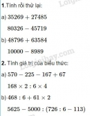 Bài 1, 2 trang 48 (Luyện tập chung) SGK Toán 4