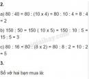 Bài 2, 3 trang 78, 79 SGK Toán 4
