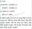 Bài 3, 4 trang 57 SGK Toán 4