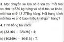 Bài 3, 4 trang 78 SGK Toán 4