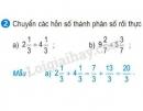 Bài 2 trang 14 (Hỗn số - tiếp theo) SGK Toán 5