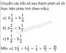 Bài 3 trang 14 (Hỗn số - tiếp theo) SGK Toán 5