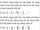Lý thuyết ôn tập phép cộng và phép trừ hai phân số