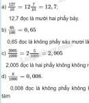 Bài 1 trang 48 (luyện tập chung) sgk Toán 5