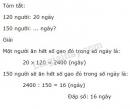 Bài 2 trang 21 (Ôn tập và bổ sung về giải toàn - tiếp theo) SGK Toán 5