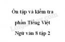 Soạn bài Ôn tập và kiểm tra phần tiếng Việt - Ngữ văn 8 tập 2