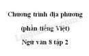 Soạn bài Chương trình địa phương (phần Tiếng Việt - Ngữ văn 8 tập 2