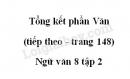 Soạn bài Tổng kết phần văn (tiếp theo) trang 148 Ngữ Văn 8 tập 2