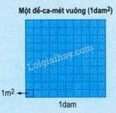 Lý thuyết về Đề-ca-mét vuông. Héc-tô-mét vuông