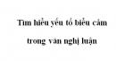 Tìm hiểu yếu tố biểu cảm trong văn nghị luận trang 113 SGK Ngữ văn 8 tập 2