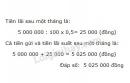 Bài 2 trang 77 Tiết 45 sgk Toán 5