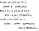 Bài 4 trang 62 (Luyện tập chung) SGK Toán 5