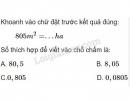 Bài 4 trang 80 (Luyện tập chung trang 80) SGK Toán 5