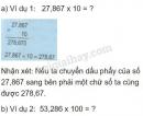 Lý thuyết nhân một số thập phân với 10,100,1000,..
