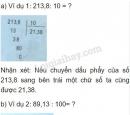 Lý thuyết chia một số thập phân cho 10, 100, 1000,...
