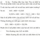 Lý thuyết giải toán về tỉ số phần trăm