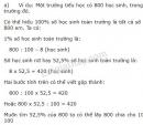 Lý thuyết giải toán về tỉ số phần trăm (tiếp theo)