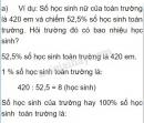Lý thuyết tiết 47 giải toán về tỉ số phần trăm (tiếp theo)