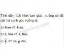 Bài 1 trang 95 SGK toán 5