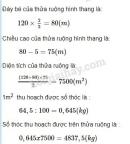 Bài 2 trang 94 sgk toán 5 luyện tập