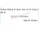 Bài 1 trang 141 (Quãng đường) SGK Toán 5