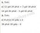 Bài 1, bài 2 trang 165 sgk toán 5 ôn tập