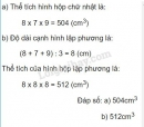 Bài 3 trang 123 (Thể tích hình lập phương) SGK Toán 5