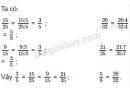 Bài 3 trang 150 (Ôn tập về phân số - tiếp theo) SGK Toán 5