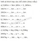 Bài 3 trang 153 (Ôn tập về đo độ dài và đo khối lượng) SGK Toán 5