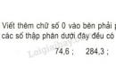 Bài 3 trang 150 sgk toán 5  ôn tập về số thập