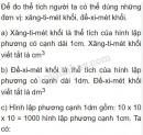 Lý thuyết về xăng-ti-mét khối, đề-xi-mét khối