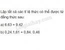 Bài 47 trang 26 SGK Toán 7 tập 1