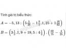 Bài 95 trang 45 SGK Toán 7 tập 1